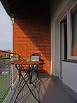 Balkon ihrer Ferienwohnung auf Fehmarn